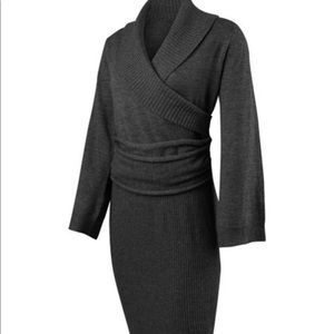 GOLITE 100% Wool Black sweater dress